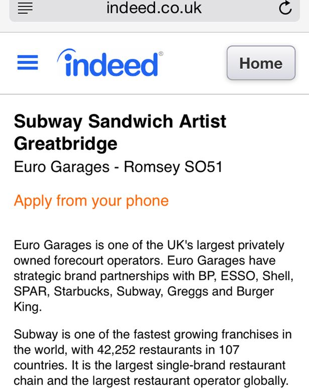 Has Subway advertised the most ludicrous job title ever? - Mirror ...