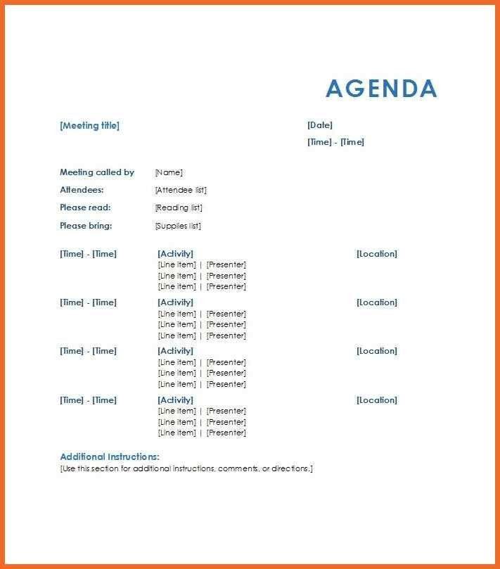 sample meeting agenda   sop example