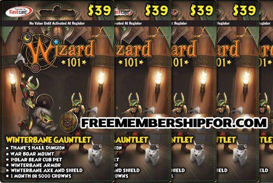 Free Wizard101 Membership Codes 2015