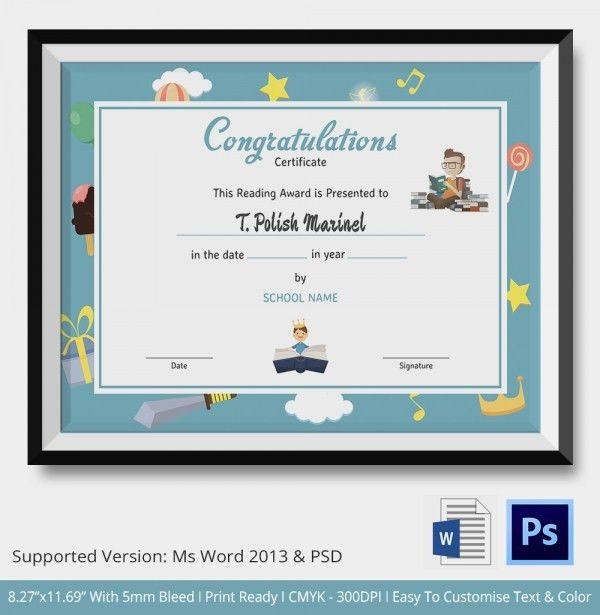 Congratulations Certificate Template - 10+ Word, PSD, Documents ...