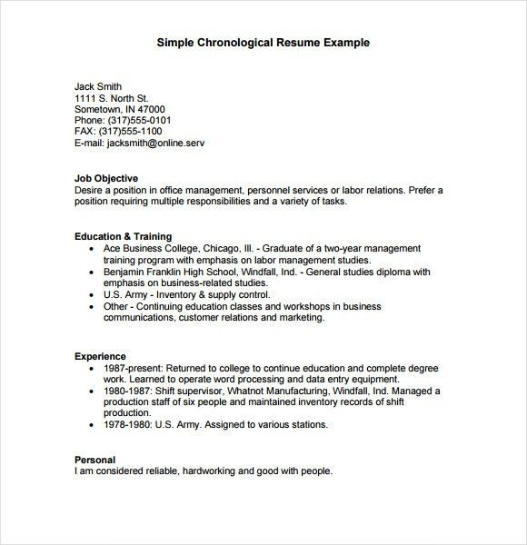 chronological resume sample treasury office copyright susan ...