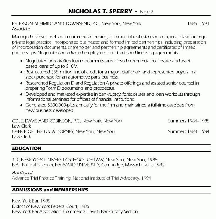 Senior Counsel Resume - Senior Counsel Resume Sample