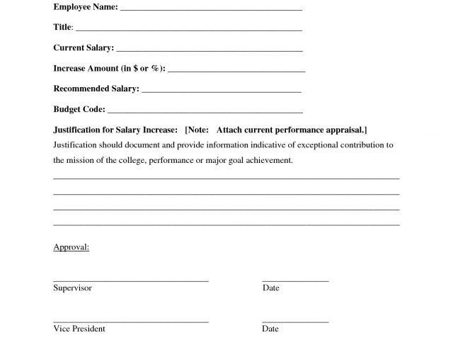 Salary Increase Form - Template Examples