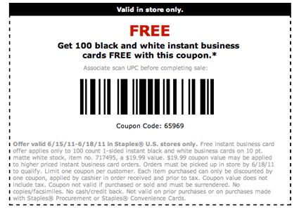 Staples Business Cards - lilbibby.Com