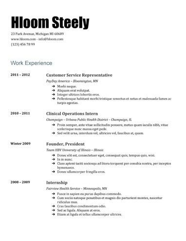 Steely Google Docs Resume Template | Resume Templates and Samples ...