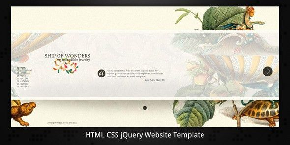 Ship Of Wonders Scrollable HTML5 website template by virtuti ...