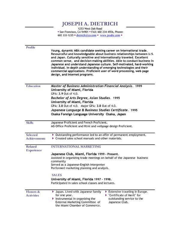 Free Functional Resume Templates. Entry Level Administrative ...