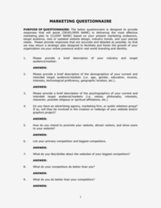 BoxedArt / Developer Downloads / Questionnaires, Checklists ...
