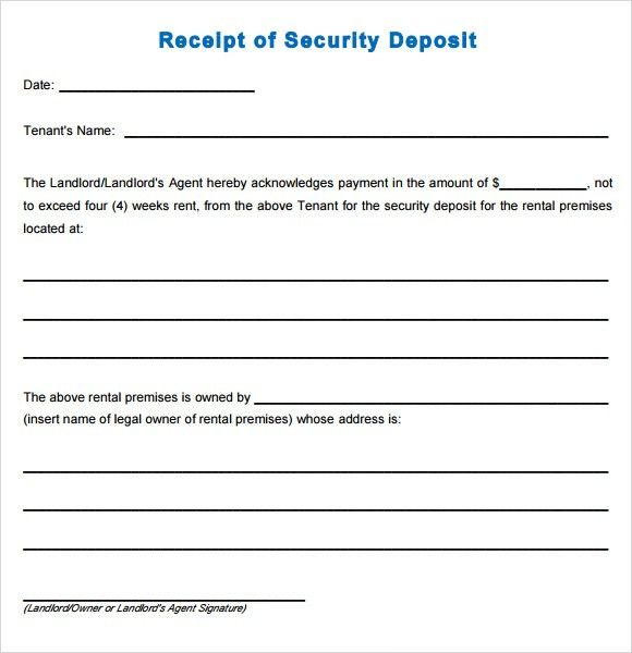 Sample Deposit Receipt - 7+ Free Download for PDF , Word