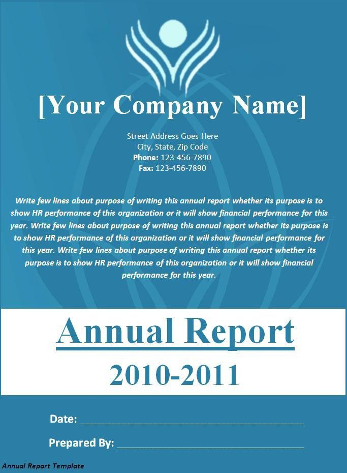 Annual Report Template Download Page | Word Excel Formats