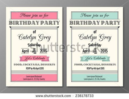 Free Birthday Party Template Invitation Vector - Download Free ...