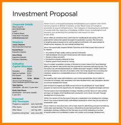 Business Proposal Sample Template Business Proposal Template