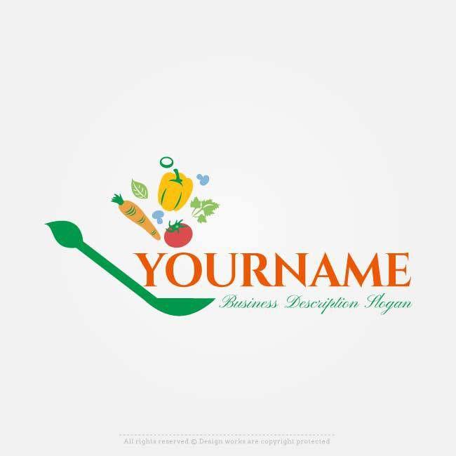 Online Vector Healthy food Logo free Logo design Maker | Food ...