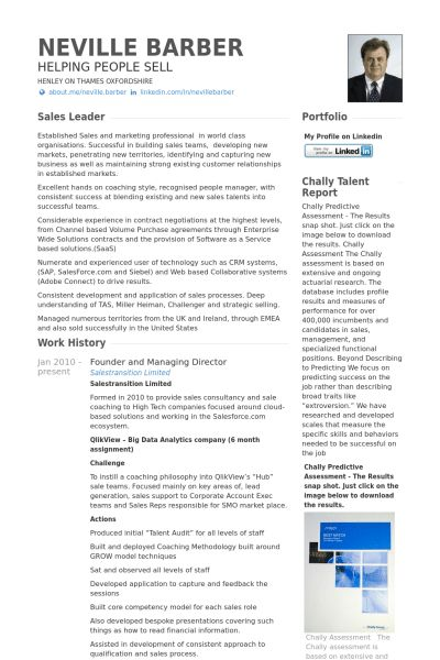 Managing Director Resume samples - VisualCV resume samples database
