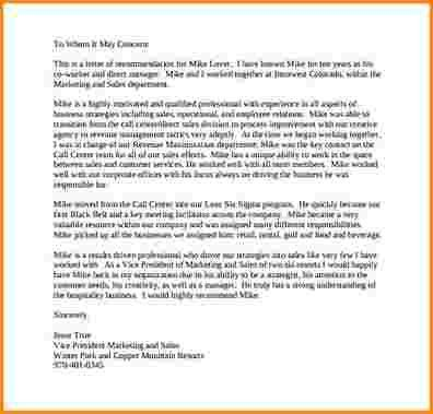9+ personal recommendation letter sample | receipts template