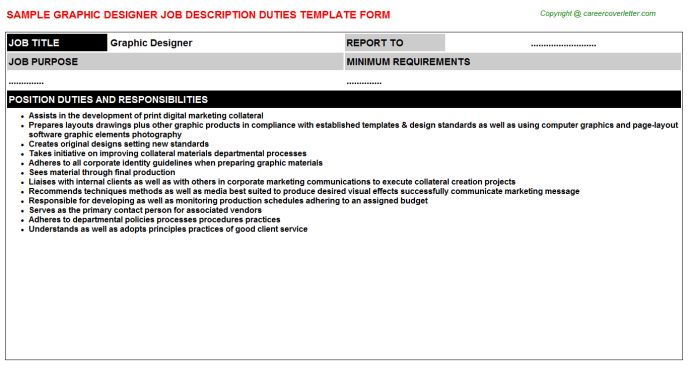 Graphic Designer Finalizer Job Descriptions