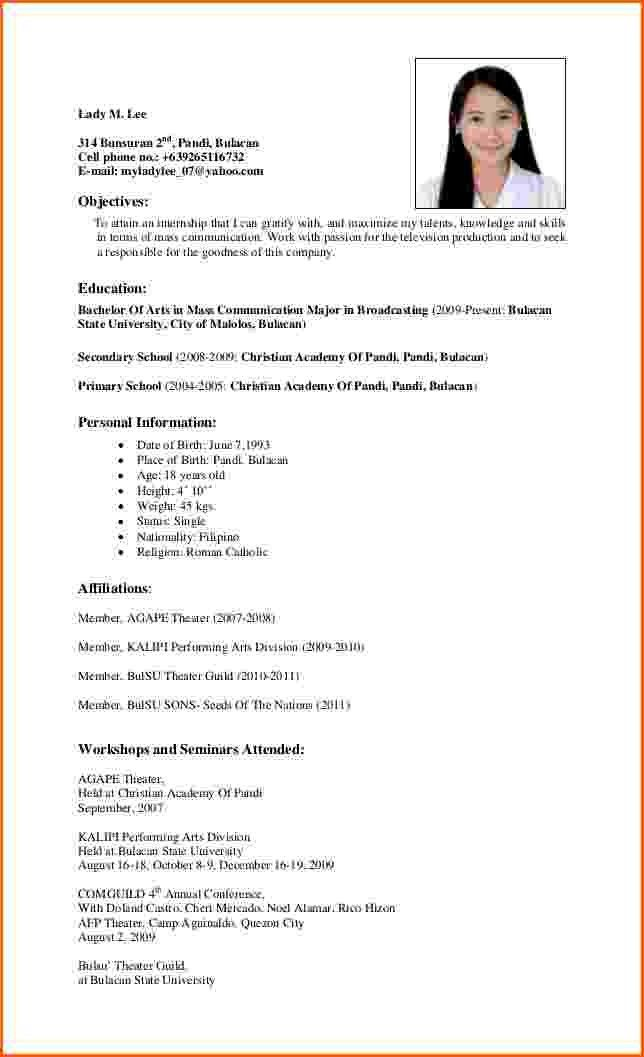 Business Resume Objective Examples Objectives In Applying OJT ...