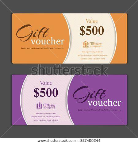Gift Voucher Template Stock Vector 441682513 - Shutterstock