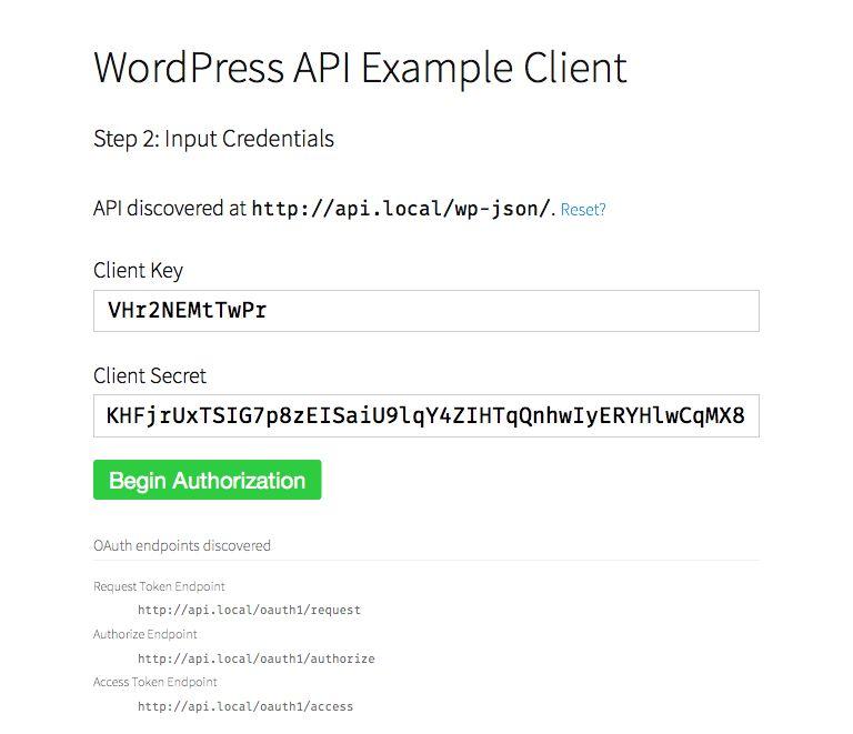 GitHub - WP-API/example-client