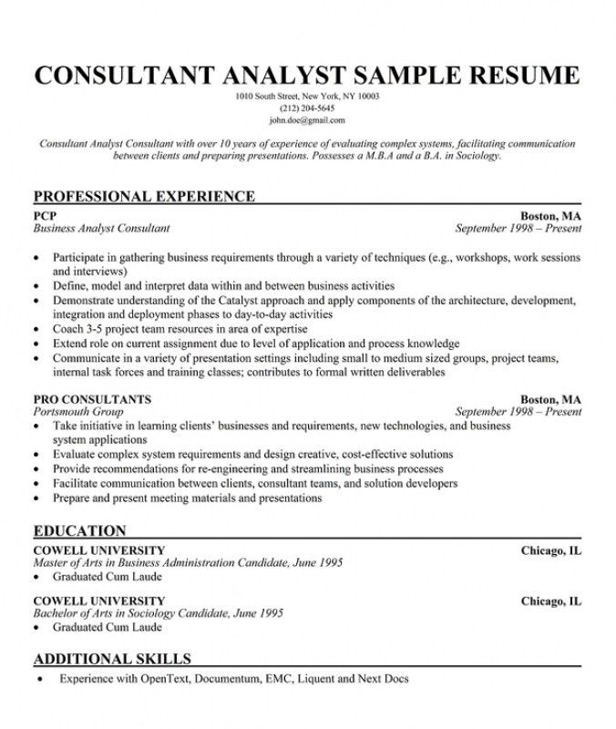 business consultant resume resume examples