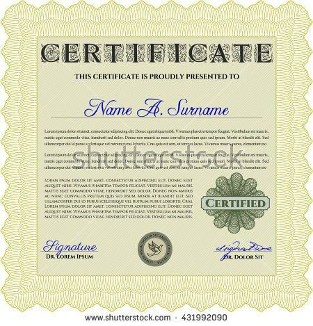 Diploma Template Certificate Template Superior Design Stock Vector ...