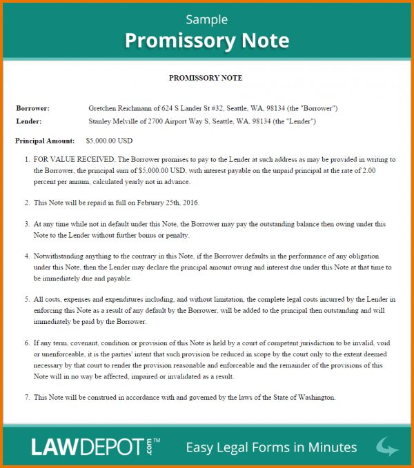 Free Promissory Note Template.Sample Promissory Note.png | Scope ...