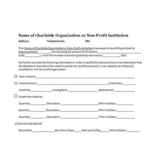 charitable donation receipt sample | Cheer | Pinterest | Receipt ...