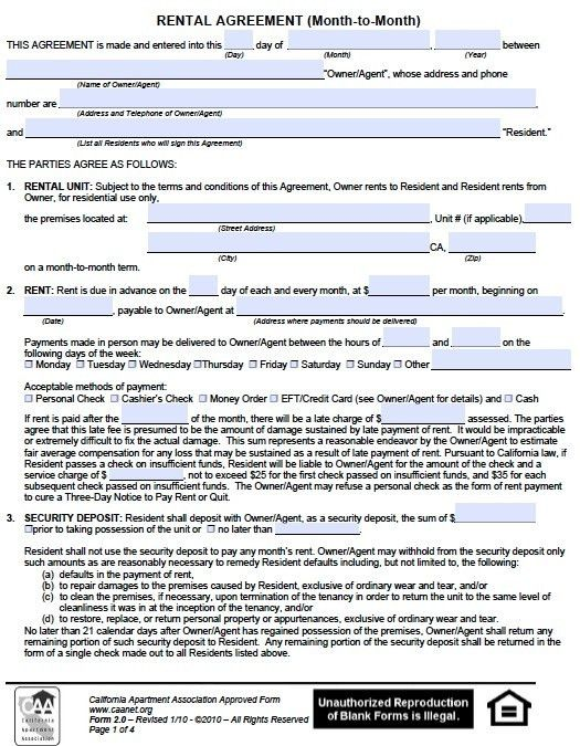 10 Best Images of Temporary Rental Agreement Template - Month ...