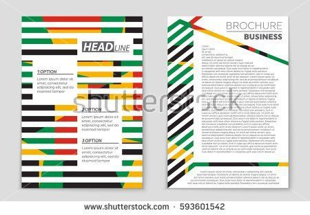 Set Infographic Elements Presentation Template Book Stock Vector ...