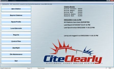 CiteClearly Electronic Ticket Writer Software