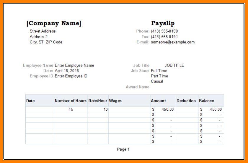 8+ payslip template | portfolio covers