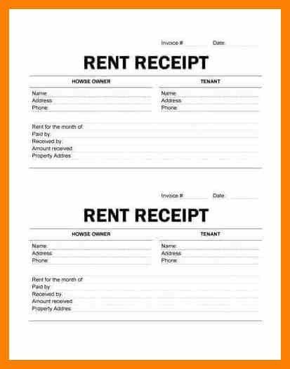 9+ rent receipt format | computer invoice