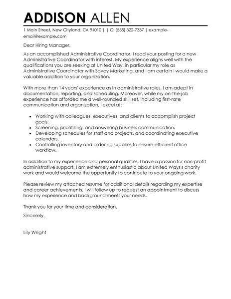 image result for cover letter medical staff coordinator. leading ...