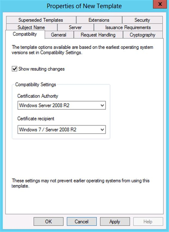 Windows Server 2012: Certificate Template Versions and Options ...