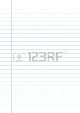 Blank Lined Paper Texture From A Notebook Or Notepad. Great For ...
