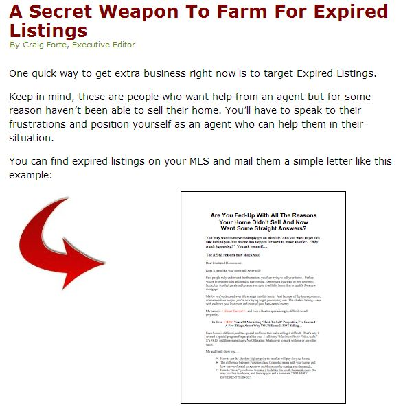 The Best Expired Listing Letter (s) For 2014 !