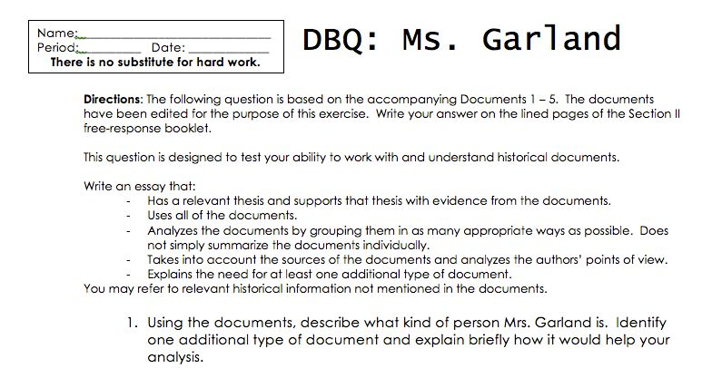 ap world history dbq essay example dbq grouping and thesis ...