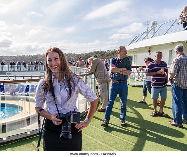 Woman Photographer On Cruise Ship Stock Photos & Woman ...