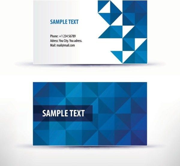 Simple pattern business card template 04 vector Free vector in ...