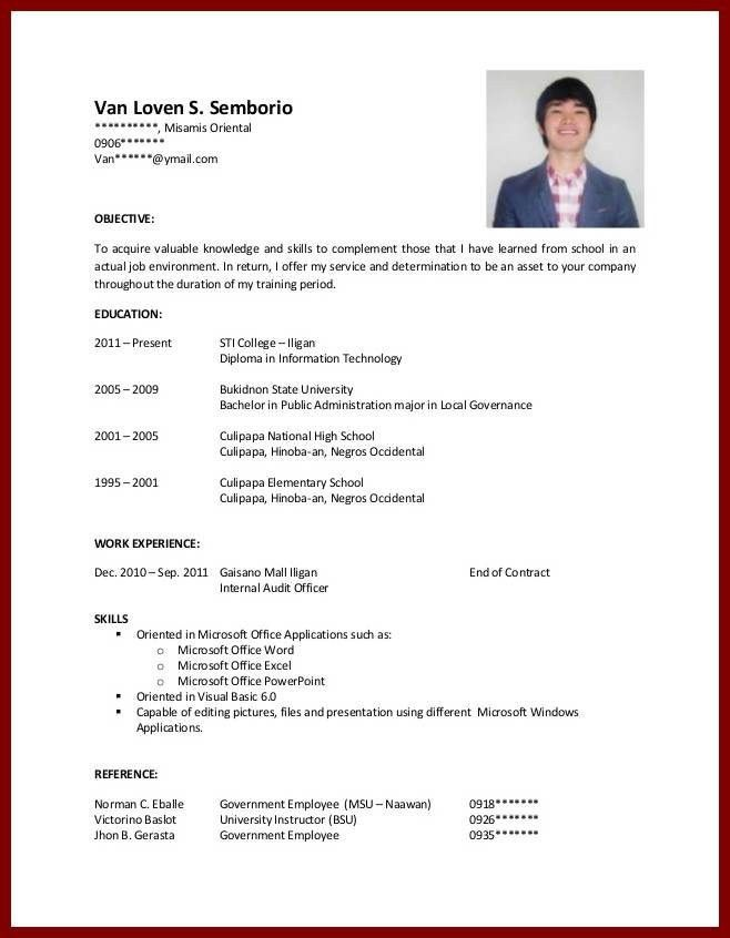 Fresh Resume For College Student With No Experience 2 Resume For ...