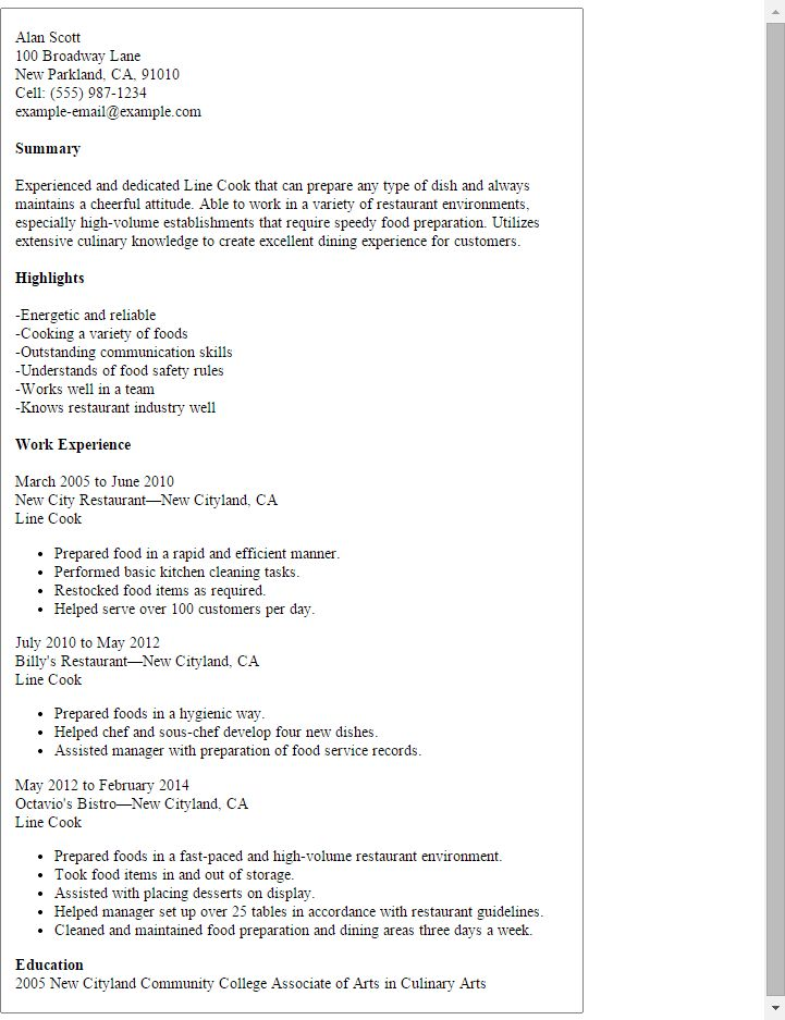Resume Sample For Cook 22 Executive Chef Resume - uxhandy.com