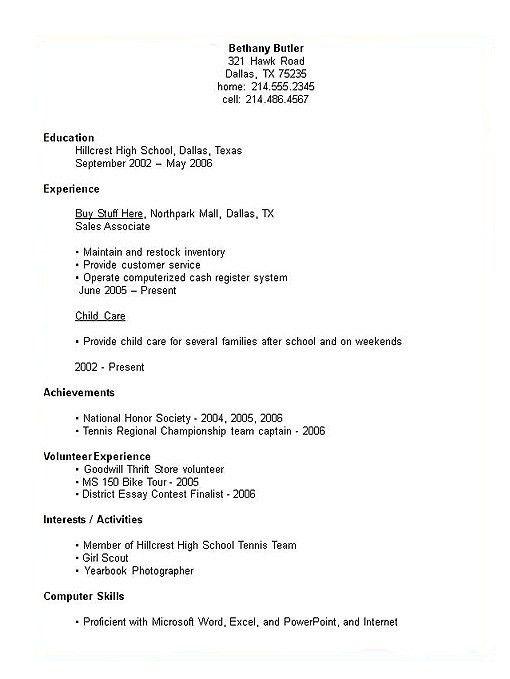 activity resume templates