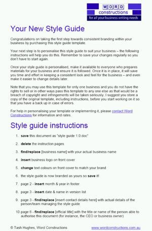Writing a user guide template – Download: reviews