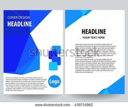 Blue Annual Report Title Page Sample Stock Vector 435919063 ...