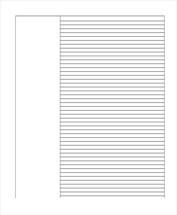 29+ Printable Lined Paper Templates | Free & Premium Templates