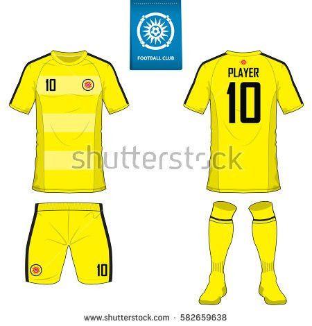 Set Soccer Kit Football Jersey Template Stock Vector 582659638 ...