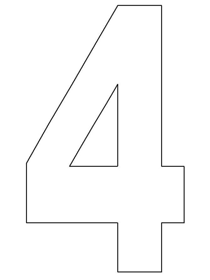 Preschool Number 4 Template   Math activites   Pinterest