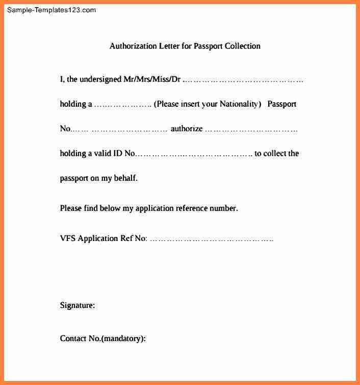 8+ authorization letter for passport | Invoice Example 2017