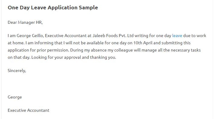 Awesome Official Leave Application Format Pictures - Best Resume ...