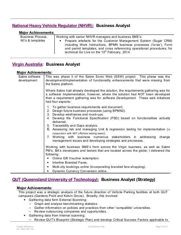 02 Resume - summarised - Jo Keown July 15